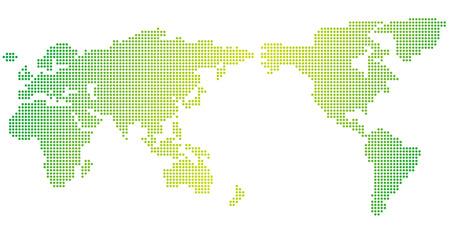 Mapa mundial de puntos Vector