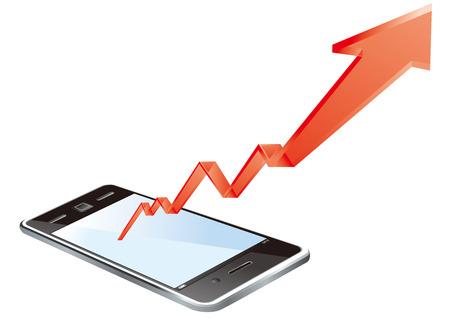 smart phone: smart phone graph Vector Illustration