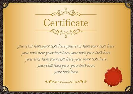 retro frame certificate template