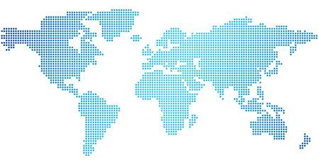 ベクトルのドットの世界地図  イラスト・ベクター素材