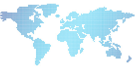 World map of dots Vector Illustration