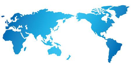 Mapa del mundo vectorial Foto de archivo - 37150111
