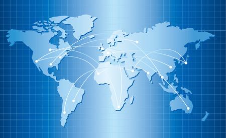 carte du monde: Carte du monde Vecteur