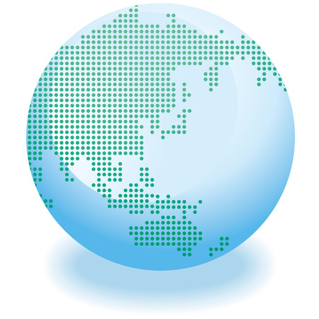 realist: Globe icon Vector Illustration