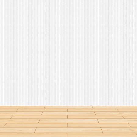 Houten vloer muur woonkamer Stock Illustratie