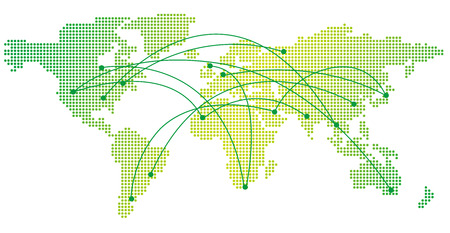 world trade: global image Vector Illustration