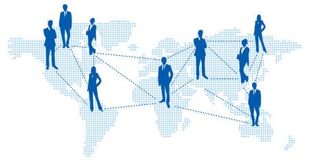 social networking service: Mapa del mundo de servicios de redes sociales vector Vectores