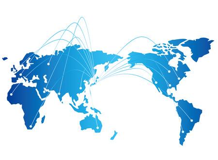 japan map network Vector Stock Illustratie