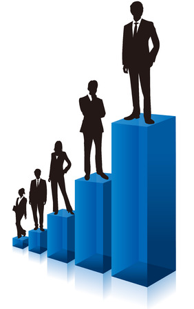 people business: business people  Vector graph