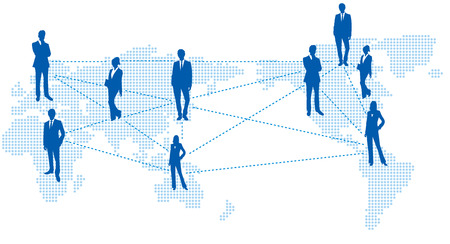 世界地図ベクターのソーシャルネットワー キング サービス
