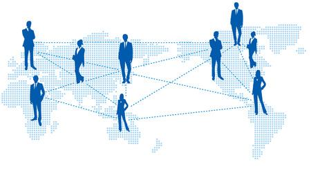 social gathering: World map Social networking service Vector Illustration
