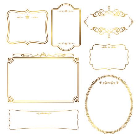 gold frame set Vector Banco de Imagens - 42557641
