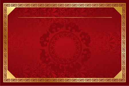 Chinese sjabloon Vector Stock Illustratie