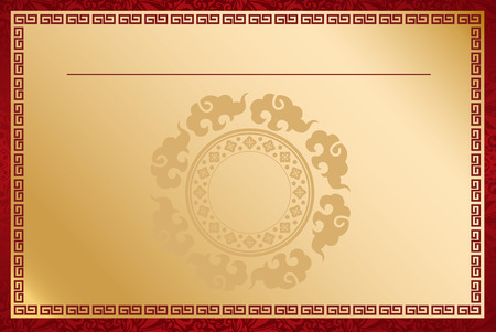 oriental: Chinese template Vector