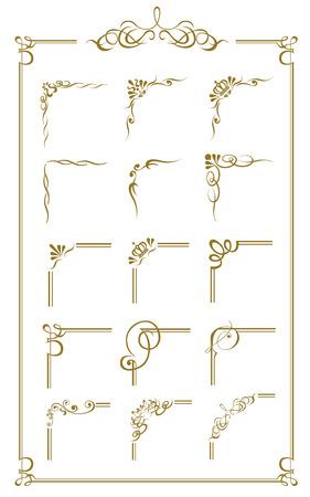 gold frame set Vector Zdjęcie Seryjne - 43318498