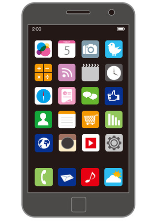 Téléphone intelligent Vecteur Banque d'images - 43318501