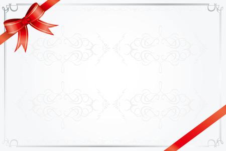 award background: retro frame certificate template Vector