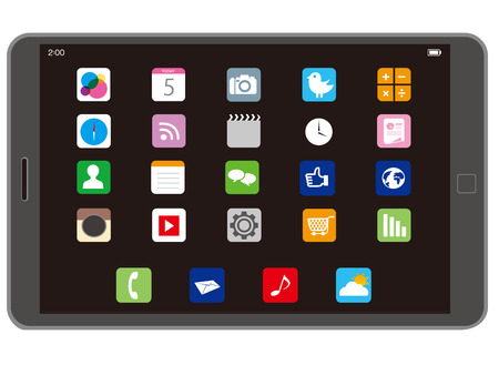 touchscreen Vector Illustration