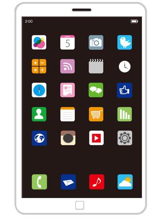 touchscreen: touchscreen Vector Illustration