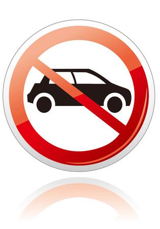 pas de voiture ni signe de stationnement Vecteur Vecteurs