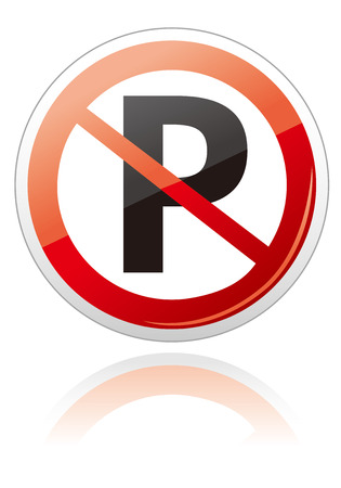 parking is prohibited: no car no parking sign Vector