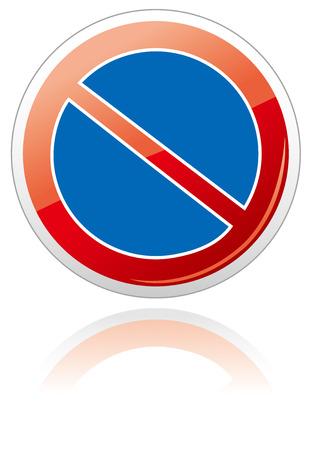 no parking sign: no car no parking sign Vector