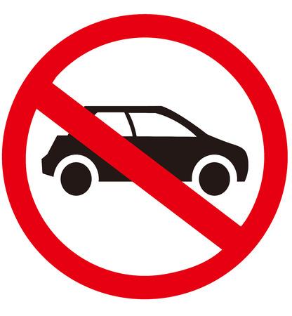 geen auto geen parkeerplaats teken Vector