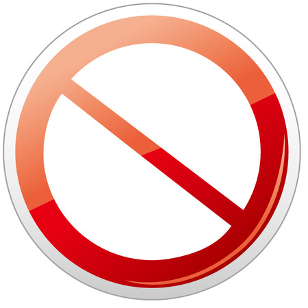 restrictive: Prohibition sign icon Vector