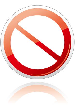 prohibition: Interdiction signe icône Vecteur