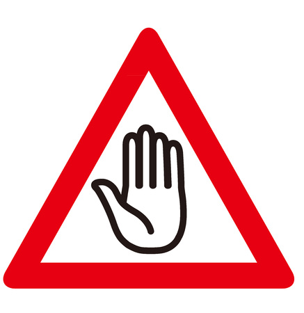 stop hand: No entry sign Vector