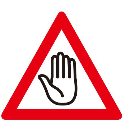 hazard sign: No entry sign Vector