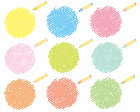 crayons: crayon collection Vector
