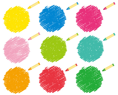 variegated: crayon collection Vector
