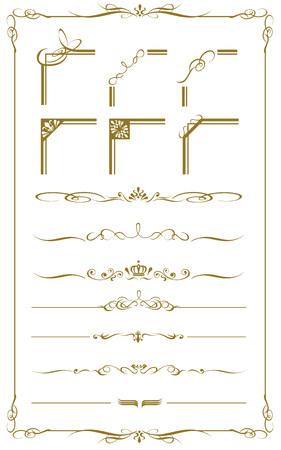 装飾的なゴールドのフレームは、ベクトルを設定