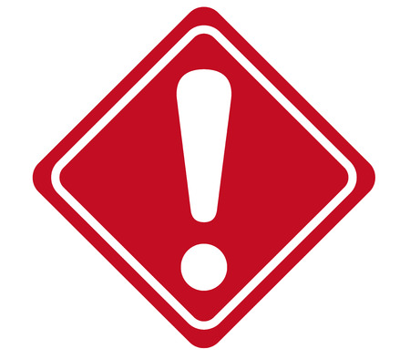 security icon: warning sign Vector