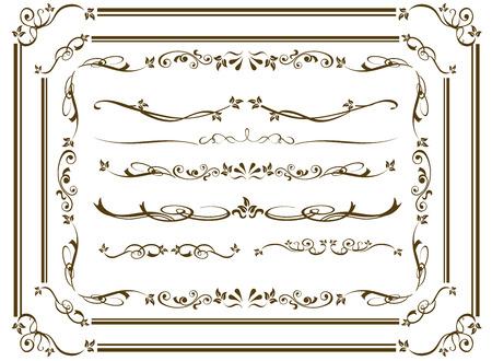Dekorativen Goldrahmen-Set Vector Standard-Bild - 47257107