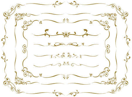 Or décorative frame set Vector Banque d'images - 47708995