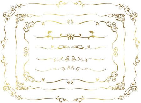 or décorative frame set Vector Vecteurs