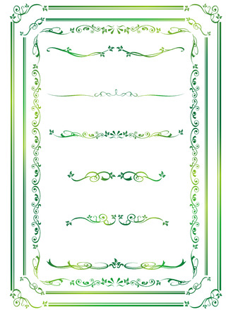 romantic: decorative gold frame set Vector