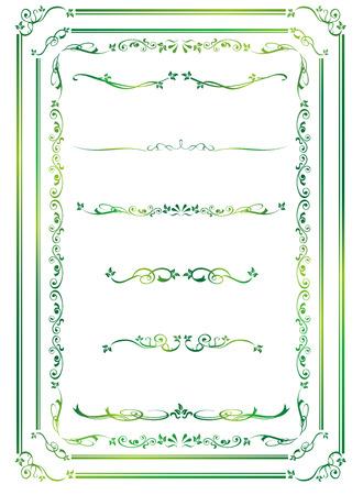Oro decorativo frame set vettore Archivio Fotografico - 48034153