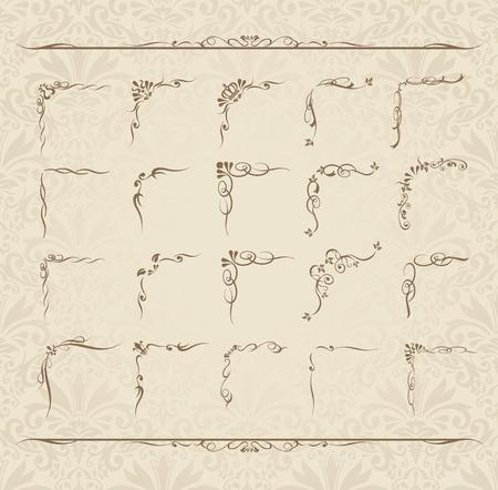 decoration design: decorative gold frame set Vector