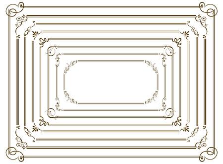 oro decorativo frame set vettore