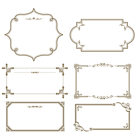 gorgeous: gold frame set Vector