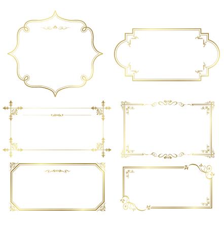 gold frame set Vector