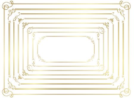 ゴールド フレームのベクトルを設定