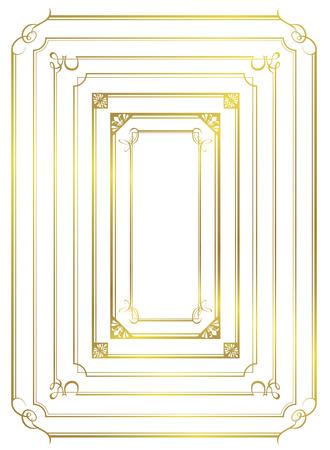 gold frame: decorative gold frame set Vector