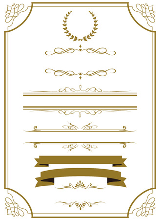 or décorative frame set Vector