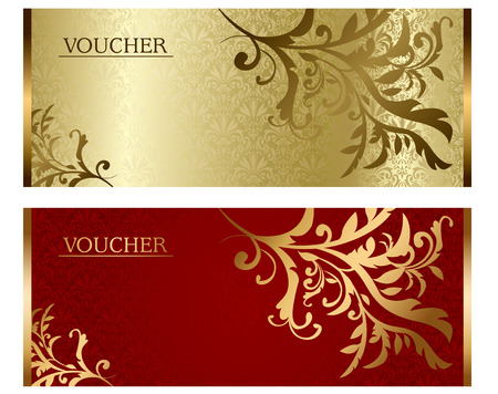 Voucher ticket Vector