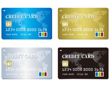 Credit card set Vector Vetores