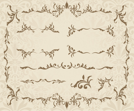 decorative frames: decorative frame set Vector